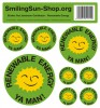 Sticker set - Renewable Energie Jamaican-Caribbean, 8 pieces