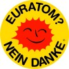 Button Deutsch Euratom 38 mm