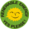 Renewable Energy Stickers English 5 cm