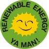 Renewable Energy Stickers Jamaican-Caribbean 5 cm