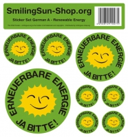 Sticker set - Renewable Energie German A, 8 pieces